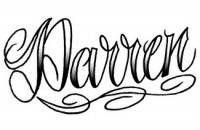 darren tattoos,lettering tattoos,name tattoos,script tattoos,wording tattoos,writing tattoos