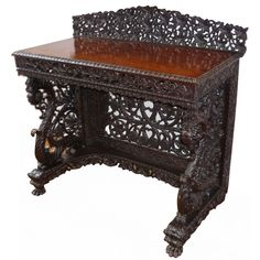 ANGLO INDIAN ROSEWOOD CONSOLE TABLE