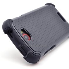 Click Image to Browse: $9.95 Black X Shield Double Layer Hard Case Gel Cover For HTC One S