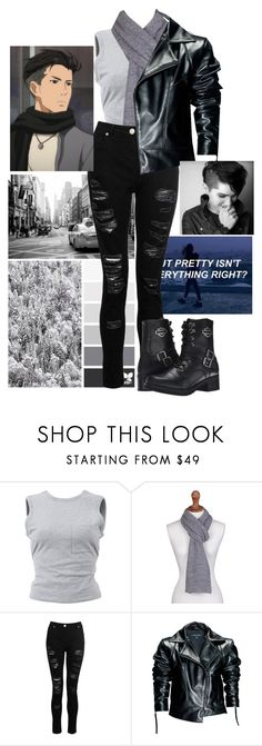 """cosplay! Otabek Altin"" by izzylaceyr on Polyvore featuring T By Alexander Wang, NOVICA, Dorothy Perkins, Leka and Harley-Davidson"
