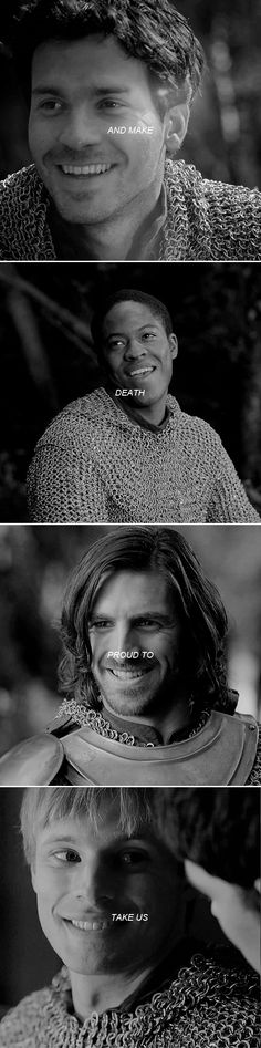 The Knights of the Round Table + Shakespeare #merlin Also now I'm really sad