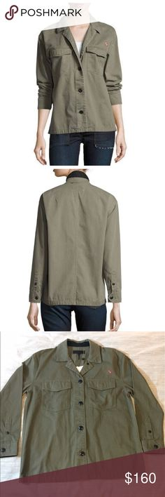 Rag & Bone Irving Shirt Jacket 🆕🆕🆕 NWT Military style jacket with a relaxed fit. Flap pockets and button down front with logo Embroidered on left. rag & bone Jackets & Coats