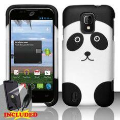 ZTE Majesty Z796c (StraightTalk) 2 Piece Snap On Rubberized Image Case Cover, Black/Silver Cute Cartoon Panda Bear Design  http://www.amazon.com/dp/B00GLEDNDA/ref=cm_sw_r_pi_dp_DLe2sb0F9V37AFFX