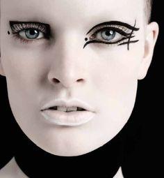 Draw The Line - Italian Vogue - November - Michael Baumgarten - 2014 www.lisaeldridge.com #LisaEldridge #makeup #beauty