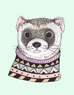 Hipster Ferret by Indi Maverick