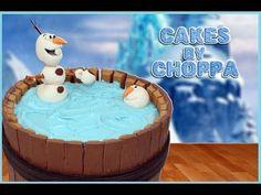 OLAF Kit-Kat Cake   Disney's FROZEN (How To)