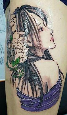 All Tattoos, Flower Tattoos, Body Art Tattoos, Tattoos For Guys, Monkey Tattoos, Sea Tattoo, Bird Drawings, Grunge Fashion, Japanese Art