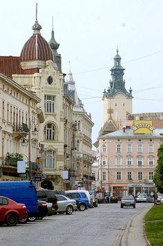 Prospekt Shevchenka, Lviv, Ukraine