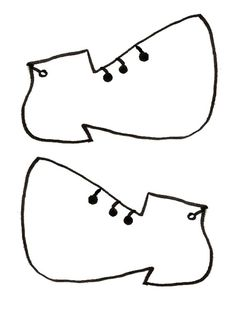 Gabarit - Chaussures pour clown ballon
