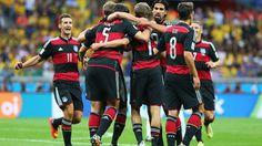 Los alemanes se quedaron afónicos de la cantidad de goles que gritaron.