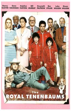 A great Royal Tenenbaums family portrait poster from the touchingly hilarious Wes Anderson movie! Ships fast. 11x17 inches. Check out the rest of our awesome selection of Wes Anderson posters! Need Po