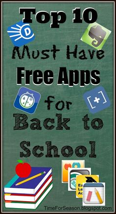 Top 10 Must Have Free Apps for Back to School: iPhone, iPad, Android, Google, Blackberry, Kindle, iOS
