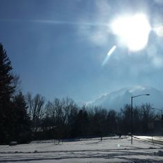 It is finally warming up here in Boulder Colorado....to 18°. The mountains are steaming