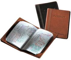 White Garden Rooster And Hen Leather Passport Holder Cover Case Blocking Travel Wallet