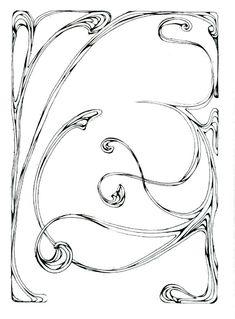 Border Art Nouveau 17 by *Beinspyred on deviantART