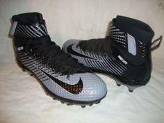 Nike 779422 Mens Lunarbeast Elite TD Football Cleat Sz 8 5 Black Gray Nikeskin | eBay