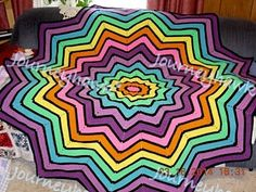 Project Gallery for Rainbow Ripple Baby Blanket pattern by Celeste Young