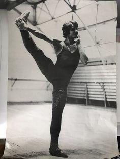 "Mikhail Baryshnikov in the ballet ""Creation of the World"" (choreographers N.Kasatkina & V.Vasiliov). Rehearsal."