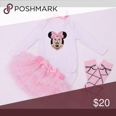 Baby girl Minnie outfit New size 3m-24m One Pieces Bodysuits