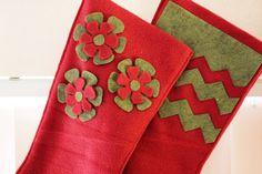DIY Felt Christmas Stockings. Handmade Christmas Stockings. http://www.hobbycraft.co.uk/christmas #christmas #stocking #handmadechristmas