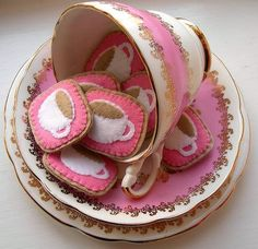 These cute little faux cookies are a great display idea.