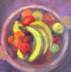 Fruit Bowl Oil Painting  cfai.co