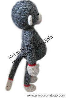 Darcy Large Monkey Free Crochet Pattern ~ Amigurumi To Go