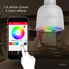 16 millions colors and 4 color effects for choice