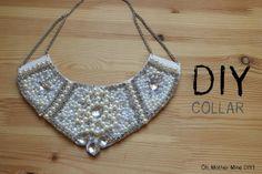 DIY Collar de perlas y piedras swarovsky