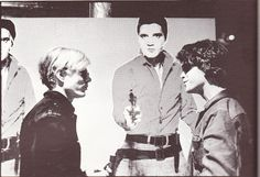 Classic Photo: Andy Warhol, Elvis Presley and Lou Reed
