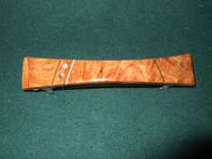 Wood Wooden Barrette Hairclip Maple Burl large by Thingsinwood18, $39.00