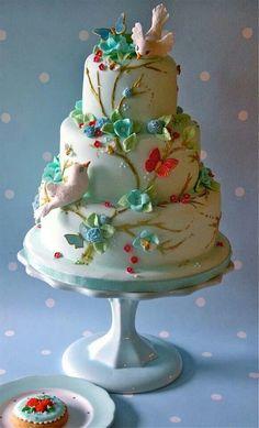 Vintage romance cake