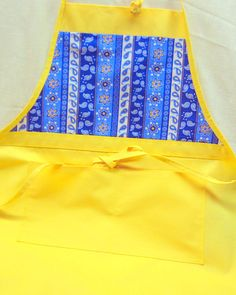 French Country Apron Bright Yellow and Provence by BuffaloDesigns, $18.00