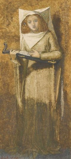 Dante Gabriel Rossetti (1828-1882), Girl Singing to a Lute.