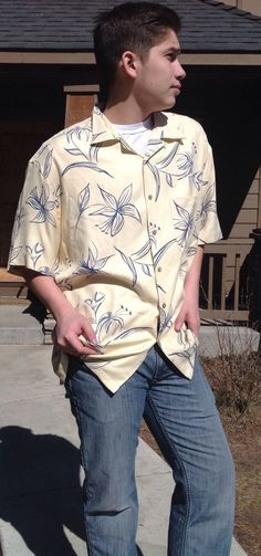 Mens Pendleton Silk Hawaii cream Floral Mint XL Free Ship Mint  | eBay