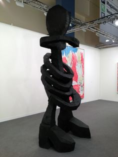 Baselitz, Georg - Louise Fuller, 2013 - bronze, patinated, 837kg, and Oil Dene base ho ho Art Miami 2013 Gallery Ropac Paris