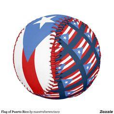Flag of Puerto Rico Baseballs  Pelota de beisbol con bandera de Puerto Rico