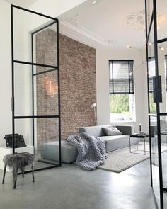 42 Minimalist Home Interior Design Ideas. Minimalist home design, with very little and simple furniture, has impressed many people. Home Design, Design Home Plans, Bar Design, Modern Interior Design, Contemporary Interior, Stone Interior, Salon Design, Scandinavian Interior, Modern Minimalist Living Room