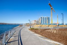 Waterfront Construction Vancouver, Sidewalk, Construction, America, Beach, Water, Outdoor, Building, Water Water