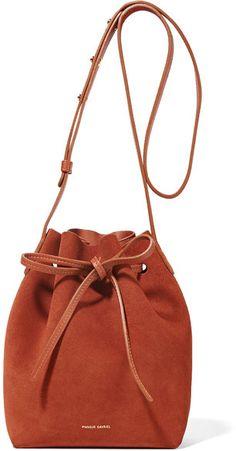 Mansur Gavriel - Mini Suede Bucket Bag - Brick
