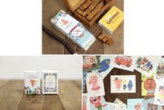 Cute Label Stickers Daisy / 48 sheets 1.8 x by WonderlandRoom, party favour