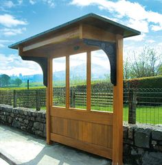 bus shelter wood | Cropston wooden bus shelter - Open - Littlethorpe of Leicester
