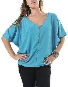 (CLICK IMAGE TWICE FOR DETAILS AND PRICING) Trendy Street Chic Oversized Blouse Teal. Wear this blouse with boyfriend or skinny jeans and edgy ankle boots for the coveted street chic look. Accessorize with statement jewelry.. See More Tops at http://www.ourgreatshop.com/Tops-C74.aspx
