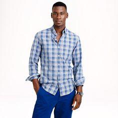 J.Crew - Jaspé cotton shirt in multi plaid
