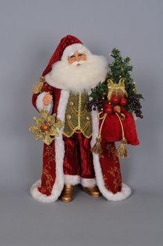 Christmas Lighted Traditional Santa Figurine with Tassels