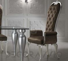 #chair #design #interior #furniture #furnishings #interiordesign #designideas #artdeco #ardeco стул с подлокотниками DV Home Prince, Prince_Ch1