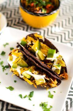 Black Bean, Corn and Avocado Tacos (Gluten Free, Vegetarian)