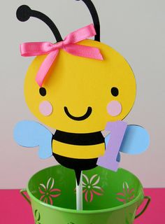 Colorful Bumble Bee Birthday Party Smash by sweetheartpartyshop, $6.00
