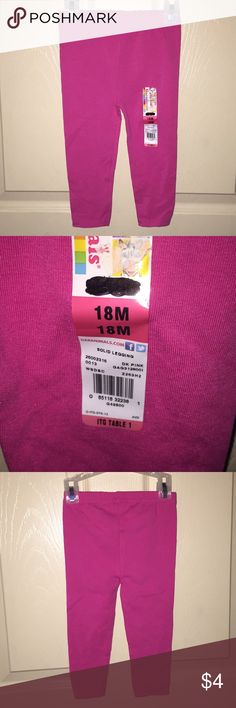 Garanimals Leggings Cute pink leggings.  Never worn, brand new. Garanimals Bottoms Leggings