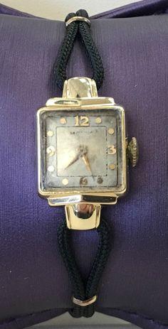 14K Yellow Gold Estate Hamilton Ladies Watch - Needs Repair #Hamilton